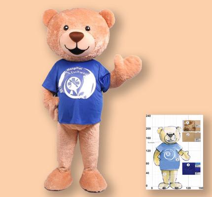 Bären Kostüm Maskottchen Herstellung