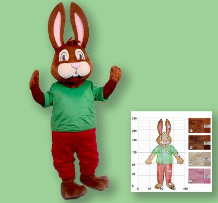 """Hasen Kostüm Maskottchen Herstellung für """"Kunico GmbH"""""""