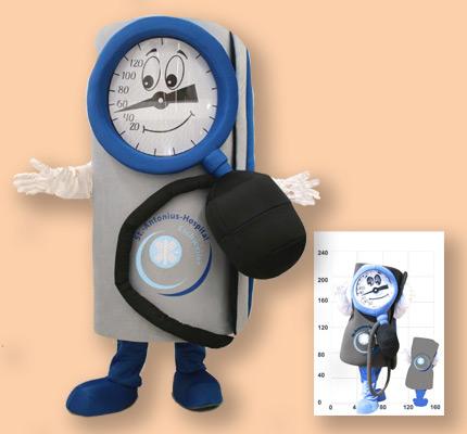 Stehtoskop Kostüm Maskottchen Herstellung Promotion