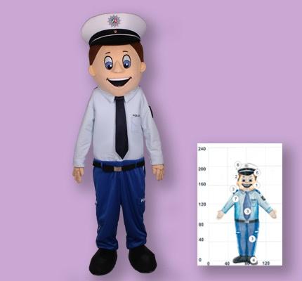 Polizei Dortmund Kostüm Maskottchen
