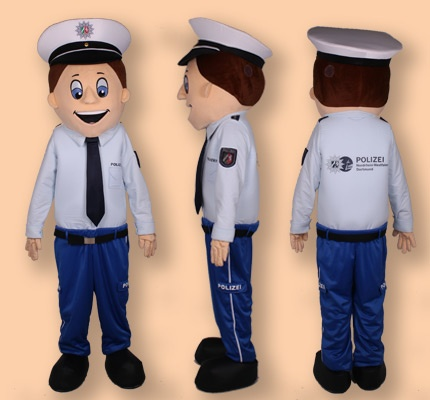 Polizei Maskottchen Kostüm Dortmund