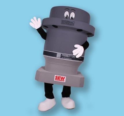 Maskottchen Kostüm SEW Motor Getriebe