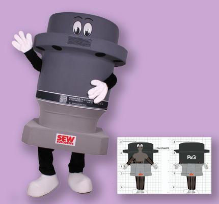 SEW Motor Getriebe Maskottchen Kostüm
