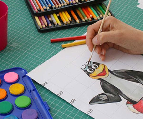 Maskottchen nach Zeichnug