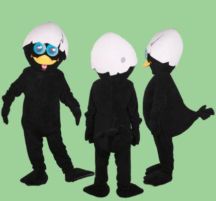 Calimero-Küken-Kostüm-Maskottchen