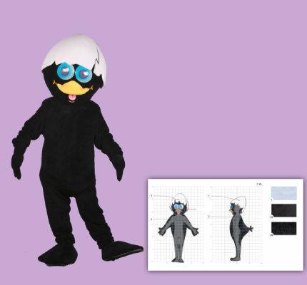 Küken Maskottchen Kostüm Herstellung Kinderkrippe Calimero